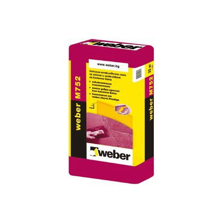 Лепилнo-шпакловъчна смес WEBER M752