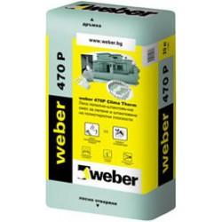 Лепилнo-шпакловъчна смес WEBER 470P - Weber