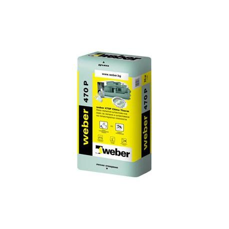 Лепилнo-шпакловъчна смес WEBER 470P